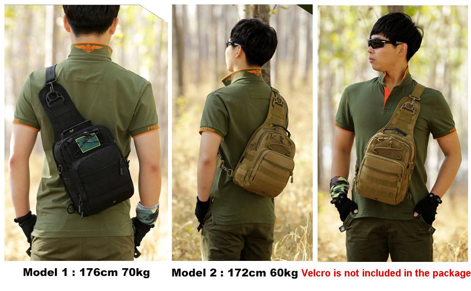 Huntvp 60L Mochila de Asalto Mochila de Bandolera Bolsa de Ri/ñonera 3 v/ías para Llevar Estilo Militar T/áctical Gran Mochila Impermeable Negro