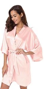 silk robe short
