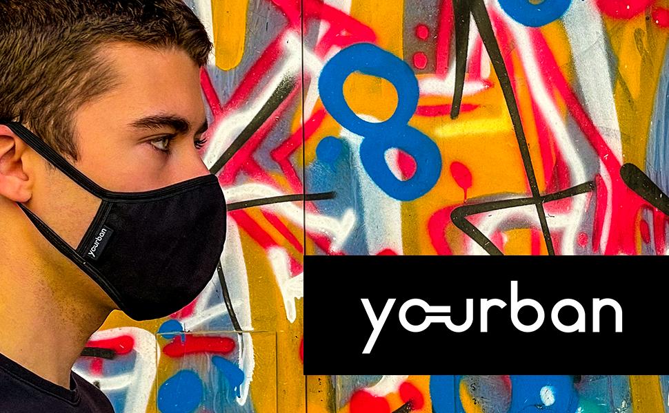 Imagen de portada de nuestros productos con modelo con mascarilla negra
