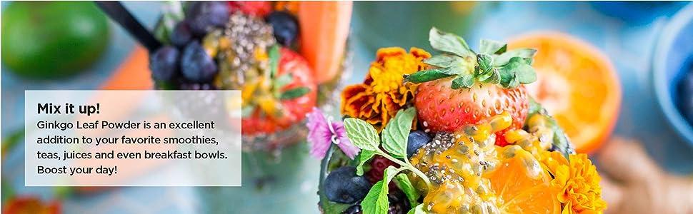 gingko powder extract raw natural vegan no-fillers superfood