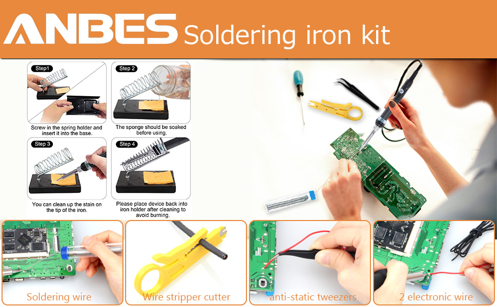ANBES soldering iron kit 1