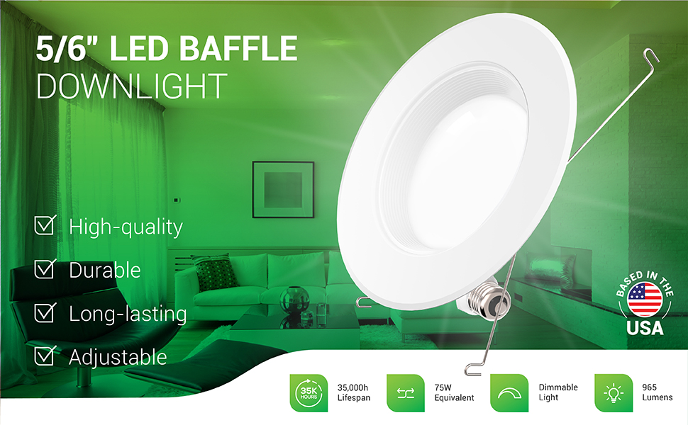 """led recessed lighting 6 inch light bulbs can lights trim 3000K 5/6 in 6"""" recess pack 4000K wafer lcd"""
