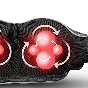Cordless Rechargeable Shiatsu Back and Neck Massager with Heat