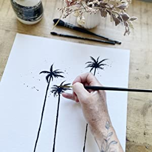 All your illustrations are hand-painted with ink and watercolour in my little art studio
