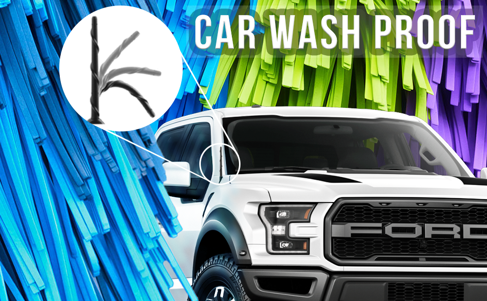 Car wash proof antenna