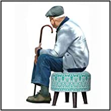 stool pouf ottoman for sitting elderly people old man woman comfortable height seat cushion relaxing
