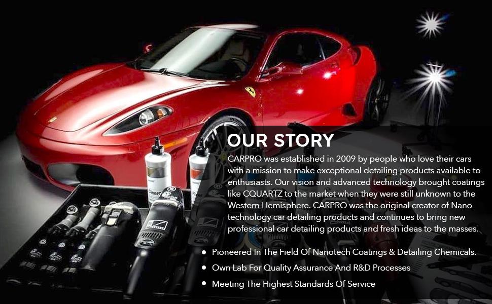 carpro cquartz gliss dlux ceramic coating car detailing detailer car wash carwash glass coating