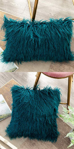 OJIA Deluxe Faux Fur Throw Pillow Cover