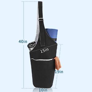 Yoga Mat Bag, Yoga Carrying Bag for Mat and Blocks  Large Sling Yoga Tote Bag Pilates Bag