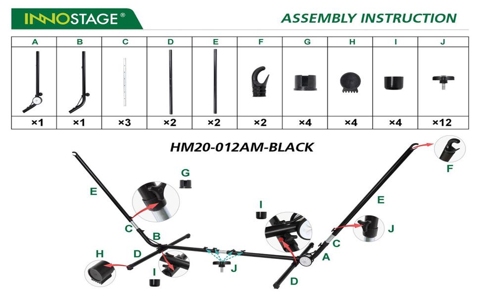 330-Pound Capacity Universal Multi-Use Heavy-Duty Steel Hammock Stand