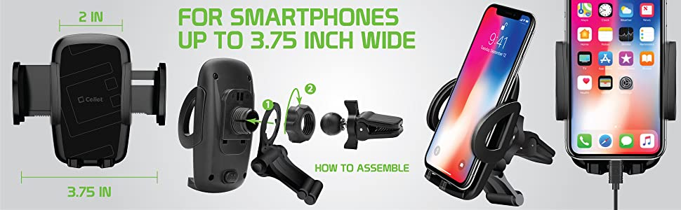 Smart Phones Airvent phone mount cradle