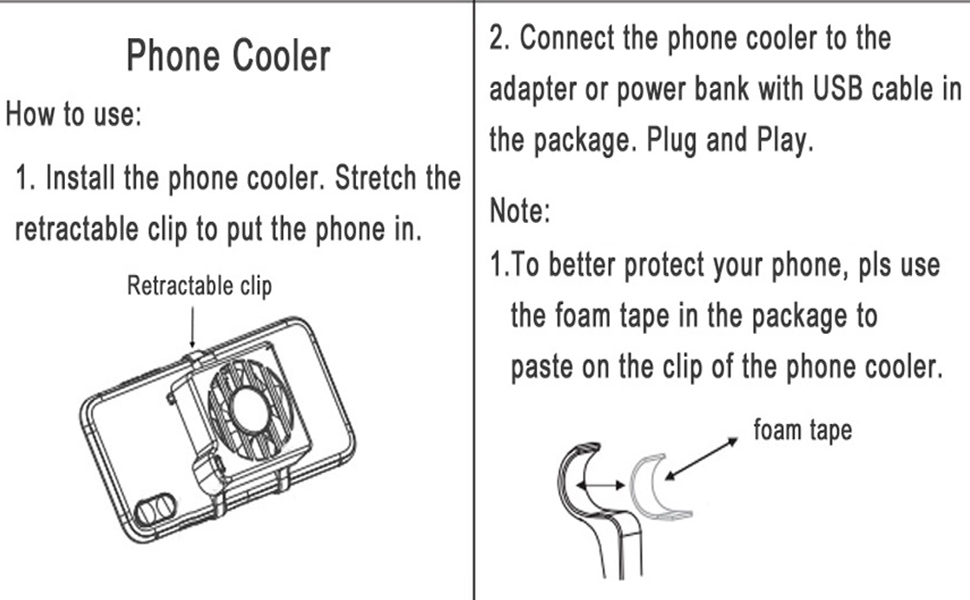 Phone Gaming Cooler Phone Live Broadcast Radiator Phone Watching Video Heatsink
