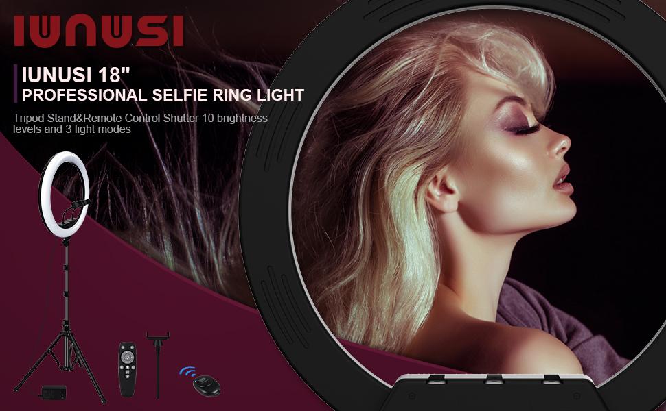 """IUNUSI 18"""" PROFESSIONAL SELFIE RING LIGHT"""