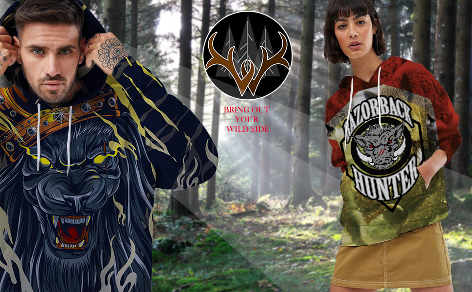 Wildlavie 3D Print hoodie introduce