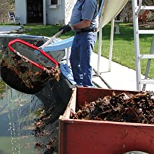 Pool Rake Used for Spring Leaf Clean-out from Pool