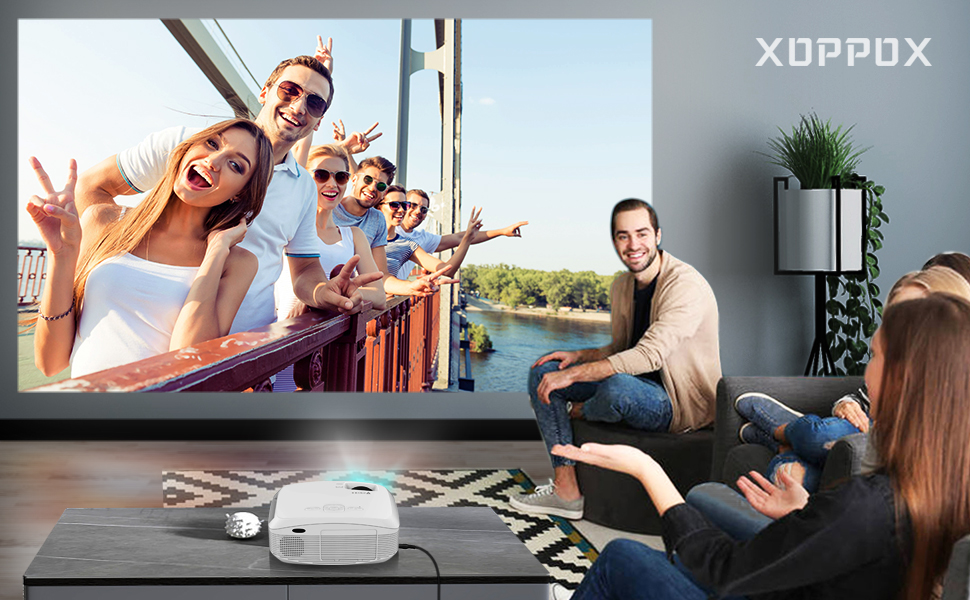 mini wifi projector 1080p HD projector wifi bluetooth projector movie projector home outdoor