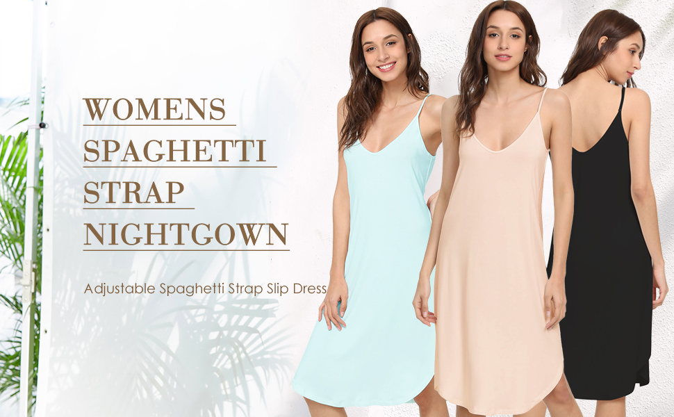 The super soft v neck tank nightie for women is comfortable, classy and sexy.