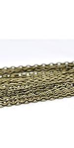 bronze necklace chains
