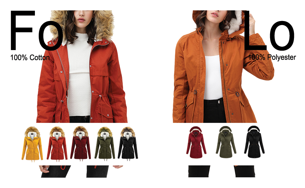 Womens Ladies Quilted Winter Coat Fur Collar Hooded Down Jacket Parka Outerwear