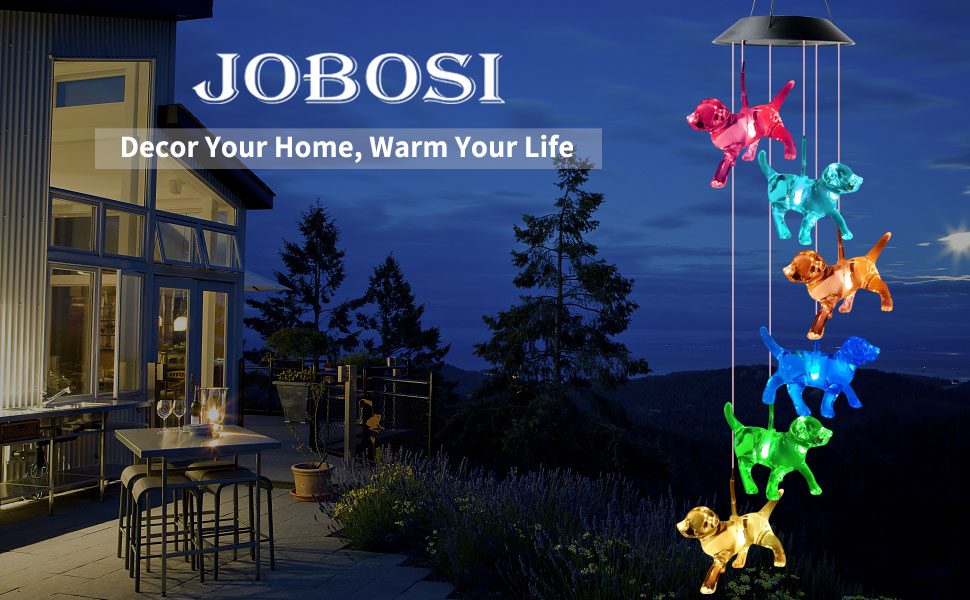 birthday gifts,mom,Outdoor wind chimes,gifts,mom birthday,solar wind chimes gifts,dog wind chimes