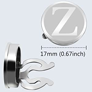 letters Silver Button Covers - Stylish Accessory for Any Shirt, Jacket or Collar