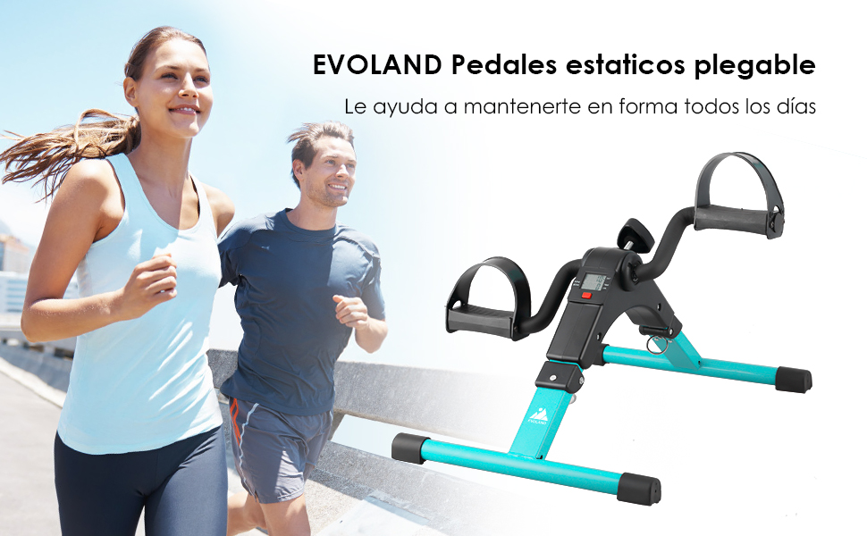 EVOLAND Pedales Estaticos, Mini Bicicleta Estática Plegable ...