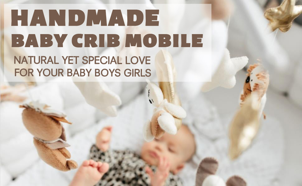 Neutral Baby Crib Mobile Nursery Cot Mobile Felt Ball Mobile Handmade Pom Pom Mobile Ceiling Mobile