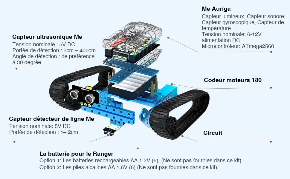 Makeblock mBot Ranger Kit Robot Programmable, Jouets Robotiques d'apprentissage de Codage Avancé