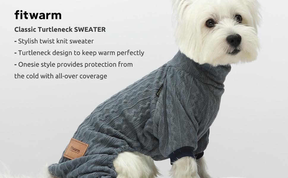 blue dog sweater turtleneck dog coats winter clothes cold weather coats