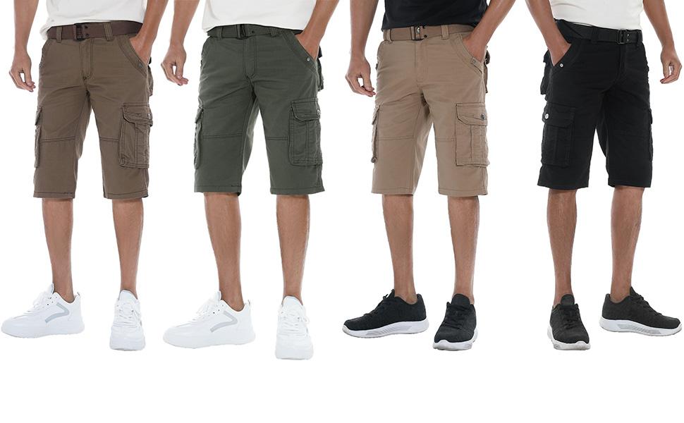 Cargo shorts wearing effect