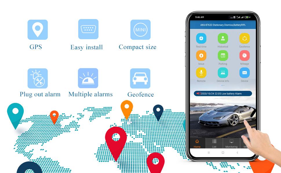 OBD2 GPS Car Tracking device