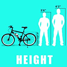 OMObike hampi height, cycle height for men, suitable for 170 cm to 185 cm, bicycle for men