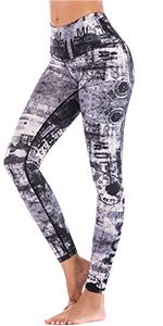 white and black yoga leggings