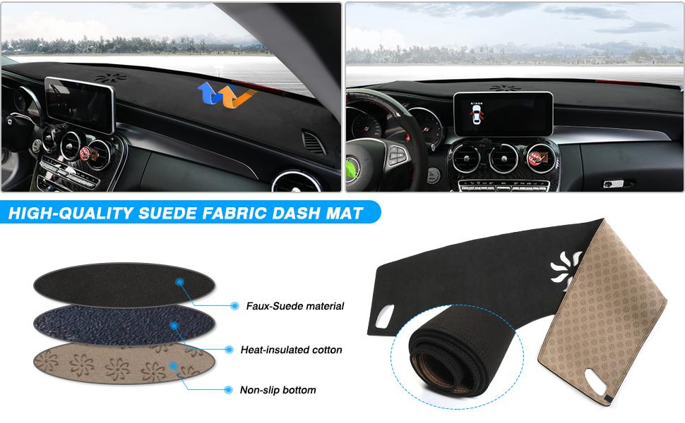 Autorder Dashboard Mat Cover for 2020 Mazda 3 2019-2021 Dash Cover Nonslip Dashboard Mat Protector Sunshade No Glare