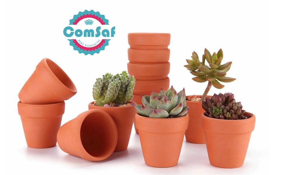BESTOMZ 10 Pcs Mini Clay Pots 1.2 Terracotta Pot Clay Ceramic Pottery Planter Cactus Flower Pots Succulent Nursery Pots Great for Plants,Crafts,Wedding Favor