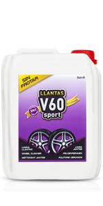 V60 Sport Limpia llantas-Wheel Cleaner. Abrillanta y elimina grasa y polvo negro llantas pulidas