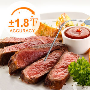 Meat Thermometer for Grilling, Ultra Accurate amp; Fast Digital Meat Thermometer with 4 Probes