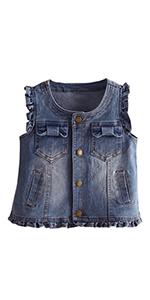 Little Girls Cute Denim Vest