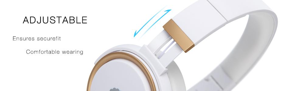 wired headphones, adjustable headband