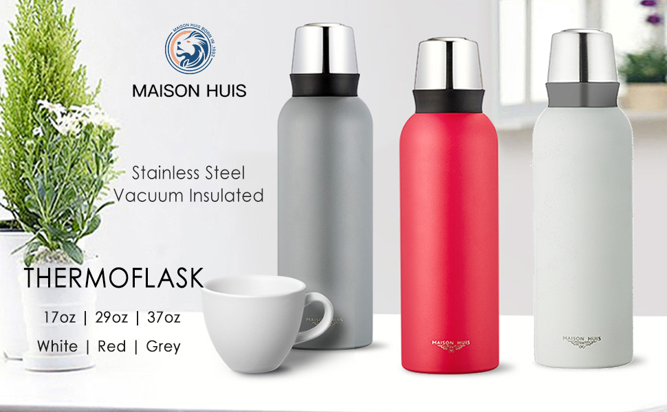 Insulated Vacuum Sports Water Bottle tainless Steel Water Bottle and Leakproof Thermos Coffee Travel