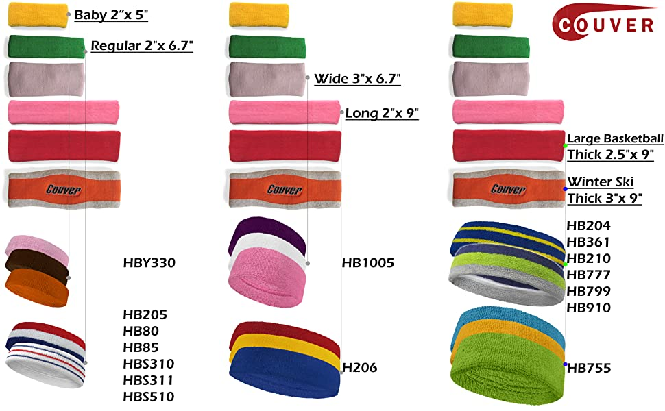 COUVER HEADBAND SIZE