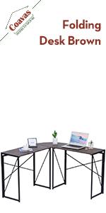 Folding L-Shaped Computer Desk