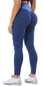 DUROFIT Pantaloni Sportivi a Vita Alta Modello di Griglia Tights Donna Running Yoga Leggins Push Up Leggings Fitness Altamente Elastico