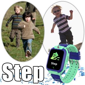 Kids watch pedometer step acount watch step sport watch phone for boys girl SOS help