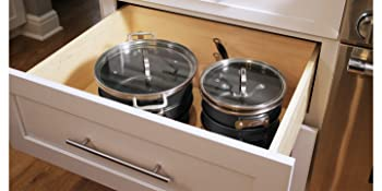 frying pans and pots that stores easy convenient stacking cookware