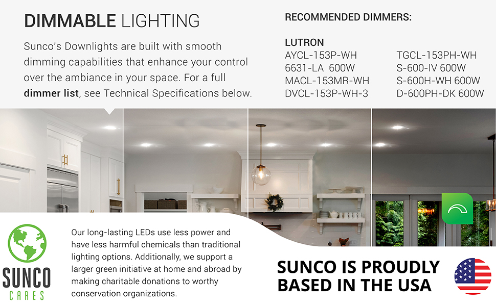 5/6 Inch LED Recessed Downlight, Baffle Trim, Dimmable, 1050 LM, Damp Rated,Retrofit Installation