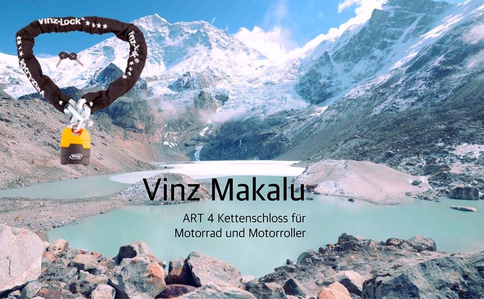 Vinz Makalu ART 4 kettingslot voor motorfiets en scooter