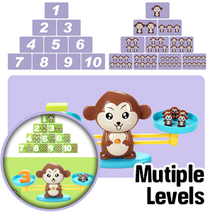 CozyBomB Monkey Balance Math Toddler Game - Educational Numbers Games Toys for Toddler Age 3 4 5