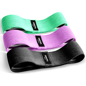 Set Fasce Elastiche Fitness (3 Pezzi) con 3 Livelli di Resistenza