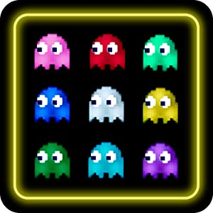 Pac-Man ghost multiple colors